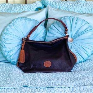 Dooney and Bourke Black Leather Hobo Shoulder Bag